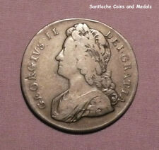 1739 KING GEORGE II SILVER CROWN - Roses  in Angles - DVODECIMO