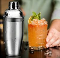 Cocktail Shaker Stainless Steel 500ml Bar Home Party Mixer Bartender Tool Pubs