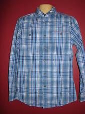 Boston Traders Luxury Vintage Men's Blue Plaid L/S Shirt - Size Small - NWT
