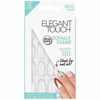 Elegant Touch False Nails - Totally Clear Stiletto 101 (24 Nails)