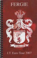 FERGIE 2007  EUROPE TOUR Itinerary Crew handbook