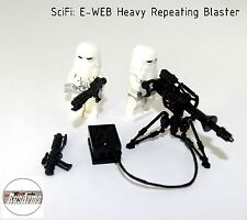 SciFi: E-WEB Heavy Repeating Blaster +2 Minifigures , RusArms, Weapons for LEGO