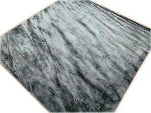 6' x 6' Rug Hand Made hand Woven Silk Black Area rug