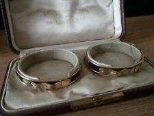 Case & Matching Gold Tone Bracelets Vintage Black Starr & Frost Double Bracelet