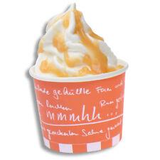 """1000x Eisbecher """"mmmhh..."""", Hartpapier, Orange/Weiß, 237 ccm, 95 x 53 mm"""