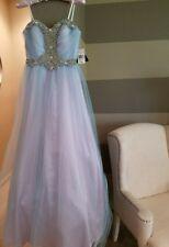 NWT Blue Strapless Prom Wedding Bridesmaid Dress Evening Gown Size 3 Reg. $250
