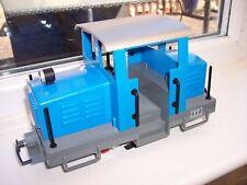 LGB MARKLIN G SCALE MODEL RAILWAY BLUE DIESEL LOCOMOTIVE with LIGHT