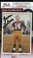 Eddie Lebaron 1981 Tcma Autograph Jsa Coa Authentic Hand Signed