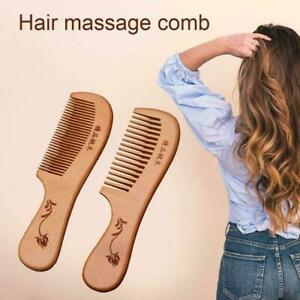Natural Sandalwood Wide Tooth Comb Wooden Hair Care Sandal Health Comb Wood A3P0