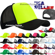 Trucker Hat Meshback Baseball Cap Snapback Adjustable Solid Plain Foam Blank Men
