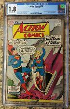 Action Comics #252 CGC 1.8 (C-OW) Origin & 1st Appearance of Supergirl & Metallo