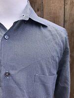 Antonio B Studio 1000 Egyptian Cotton Italian Houndstooth Dress Shirt BlackWhite
