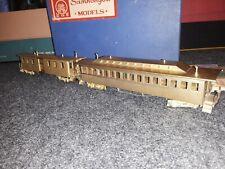 Brass HO Scale St. Paul & Pacific Passenger Set 2 Cars Samhongsa
