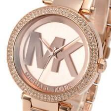 New Michael Kors Ladies Watch Parker Pink Gold Rose Stainless Steel MK5865