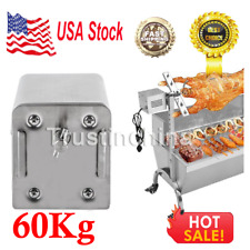 60Kg Stainless Steel Goat Pig Chicken BBQ Spit Rotisserie Roaster Electric Motor