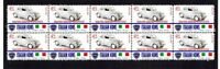 LANCIA ARDEN, ITALIAN ICONS STRIP OF 10 MINT VIGNETTE STAMPS 2