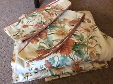 """Vintage Pretty Flowered Curtains 50""""w x 90"""" L NEW Shop Clearance"""