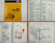Fiat-Allis Fiatallis 8045 Motor Werkstatthandbuch Reparaturanleitung 10/1982