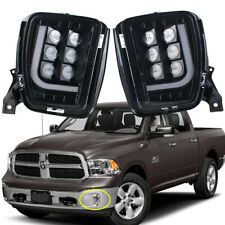 Pair Smoke Lens LED Lamp Fog Lights W/DRL For 2013-17 Dodge Ram 1500 2500 3500