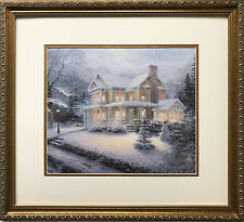 "Thomas Kinkade ""Victorian Christmas"" CUSTOM FRAMED Art Print PAINTER OF LIGHT"
