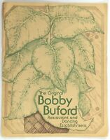 1970's Vintage Menu ORIGINAL BOBBY BUFORD RESTAURANT Dancing Columbia Missouri
