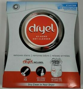 Dryel At-Home Dry Cleaner Cleaning 4 Loads Laundry Starter Kit  NEW remove odors