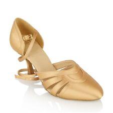 "Ray Rose 104 Nevada Flesh Satin 2"" 2.5"" Flare Heel Smooth Dance Shoe 103 Sirocco"