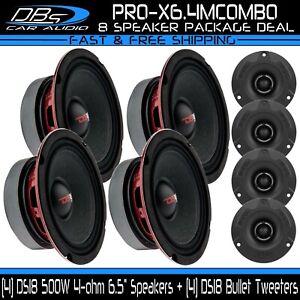 "4 DS18 PRO-X6.4M 6.5"" Midrange Loud Speakers 4 PRO-TWX1BK Super Bullet Tweeter"