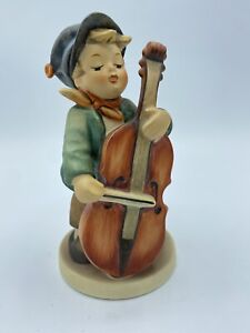Hummel Collectible Porcelain Figurine Sweet Music #185 Boy Playing Cello