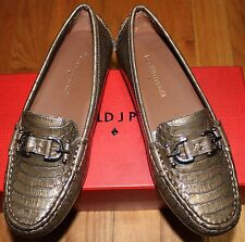 $238 DONALD J PLINER TAUPE PERSLIZED PYTHON PRINT LOAFERS SZ 6M