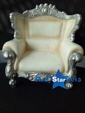 KUMIK AC-12 1/6 White Retro Sofa European Style Armchair Family Scene Accessory
