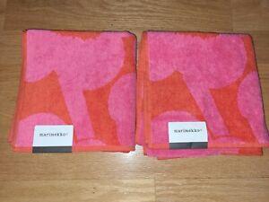 "Marimekko Unikko Hand Towel 19"" x 39"" Set of 2"