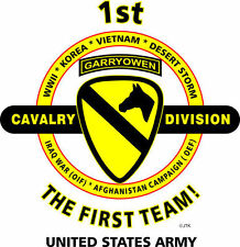1ST CAVALRY DIVISION & OPERATION DESERT STORM VETERAN  2-SIDED SHIRT