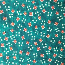 NWT Vintage Deadstock Burberry London Green & Red Square Polka Dot Silk Neck Tie