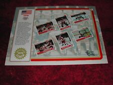 1992 Limited Edition 1976 Team USA Hockey Promo Sheet NMMT