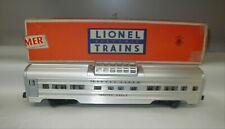 LIONEL POSTWAR 2532 SILVER RANGE VISTA DOME ILLUMINATED CAR ** BOXED **
