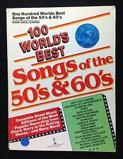 100 World's Best Songs of the 50's & and 60's Sheet Music Book Proud Mary Moon
