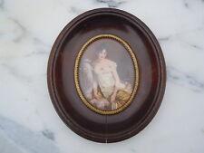 Miniature peinte portrait de Madame Récamier signée Dalton