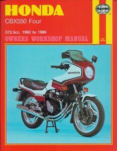 Haynes 1982-86 Honda CBX 550 Four workshop repair manual #940 FREE USA SHIPPING*