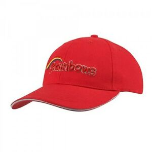 RAINBOWS BASEBALL COTTON RED CAP UNIFORM KIDS ONE SIZE FREE FAST DELIVERY
