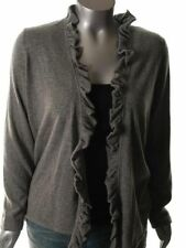 New Jones New York Cashmere Gray Grey Sweater Cardigan PM M Womens Buttonless