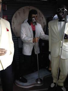 USA Deko Figur Elvis Musiker lebensgroß Diner GFK Amerika