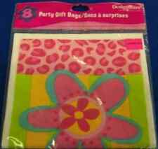 Pink & Paisley Flower Floral Hippie Birthday Party Favor Treat Sacks Loot Bags