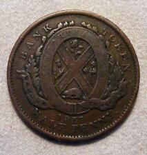 1837 Province Of Lower Canada Bank Of The People 1/2 Penny / 1 Sou Token  BR-522