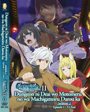 ANIME DVD Is It Wrong To Try To Pick Up Girls In A Dungeon Sea 2 Vol.1-12 End