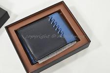 NIB Coach 75212B Box RNR Slim Bi-fold Wallet in Midnight/Denim Blue. Great Gift!