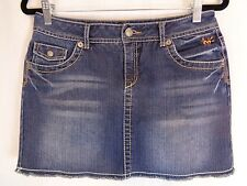 Justice Jeans Womens Short Denim Skirt - No Size Tag - Measures 30x13.5