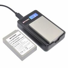 2Pcs PS BLS5 50 Battery + LCD Charger for-OLYMPUS-E-M10-EPL1-EPL3-EPL5-EP1-EP2