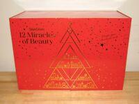 12 Door Advent Calendar Gift Box EMPTY Christmas Red SkinStore Beauty Presents