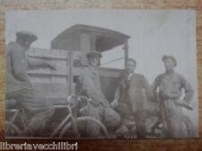 Vecchia foto d epoca CAMION FIAT operai in bicicletta SALERNO anni 30 attesa di